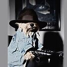 Gangster Dog Iphone case by susan stone