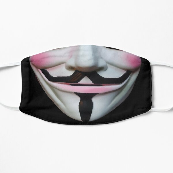 Máscara facial anónima de Guy Fawkes: sea realmente anónimo durante el bloqueo Mascarilla plana
