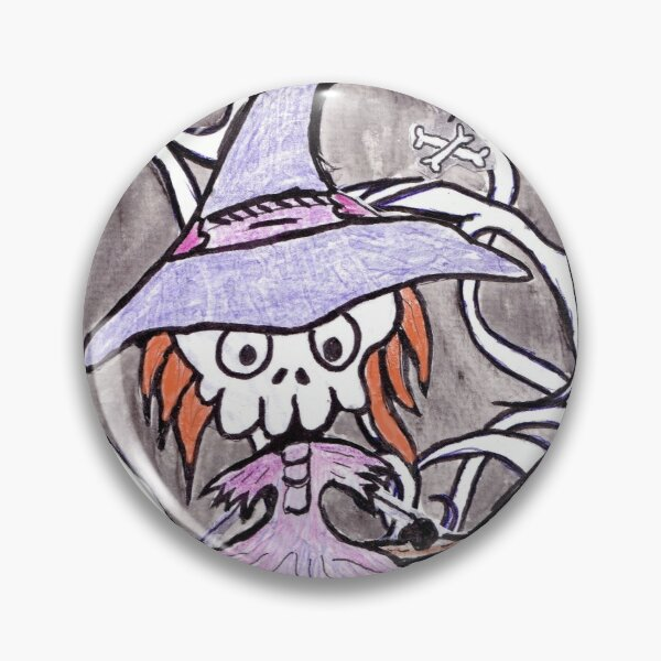 Skull Witch  Pin