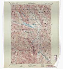 USGS Topo Map Washington State WA Chiwaukum 240508 1904 125000 Poster