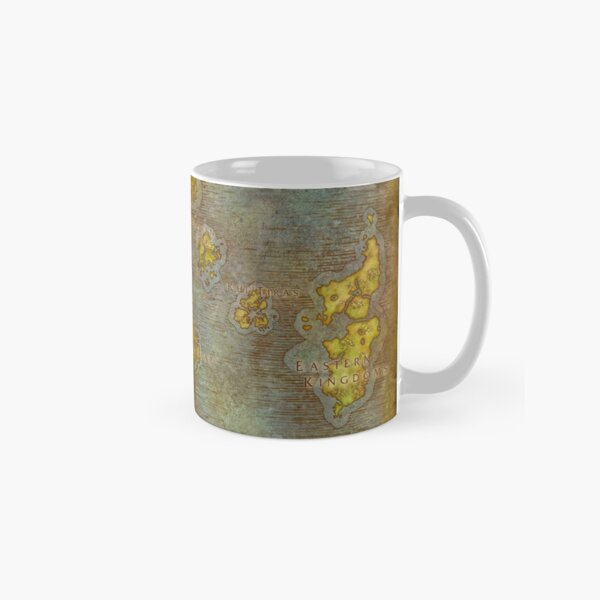 WoW Map Poster Tapestry Classic Mug