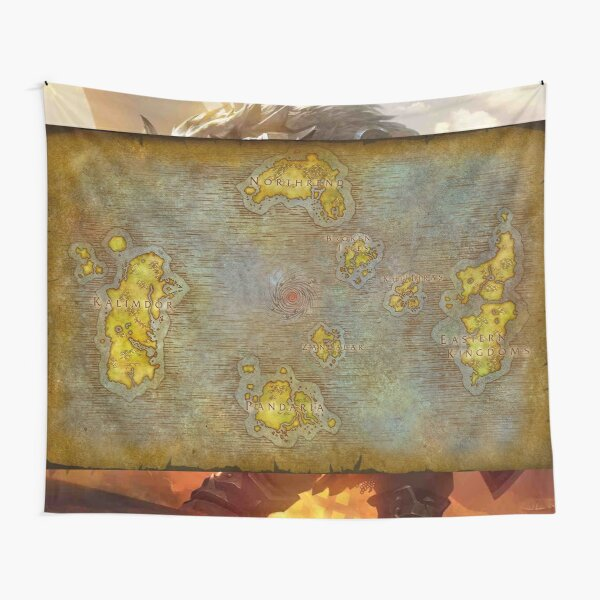 WoW Map Poster Tapestry Tapestry