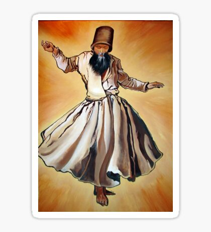 Semazen - Sufi Whirling Dervish Sticker