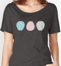 Brainy Pastel Pattern (Awesome Pastel Brains) Women's Relaxed Fit T-Shirt