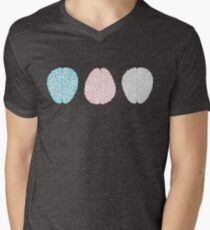 Brainy Pastel Pattern (Awesome Pastel Brains) Men's V-Neck T-Shirt