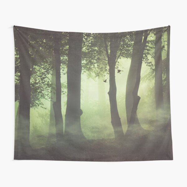 Wispy Forest Mists Tapestry