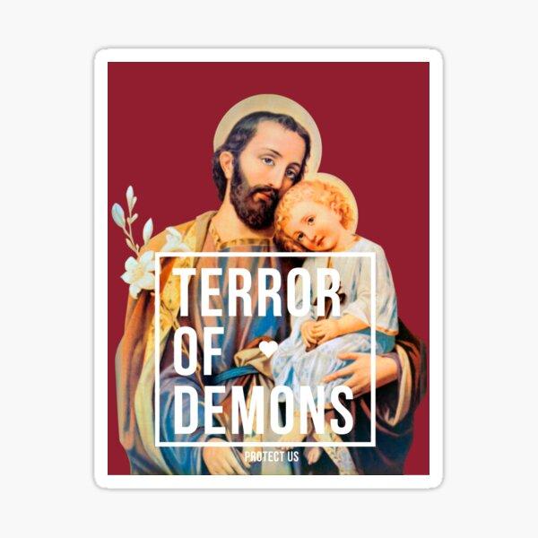 Saint joseph terror of demons protect us Sticker