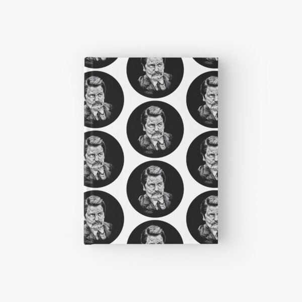 Ron Swanson in a Circle! Hardcover Journal