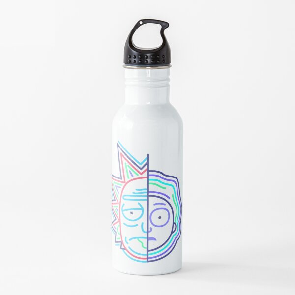 Abstract Rick 2 Water Bottle
