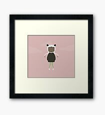 Gracie in Pink Framed Print