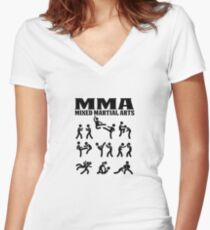 MMA Mixed Martial Arts Women's Fitted V-Neck T-Shirt