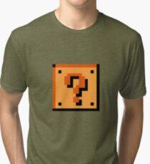 Mario question block Tri-blend T-Shirt