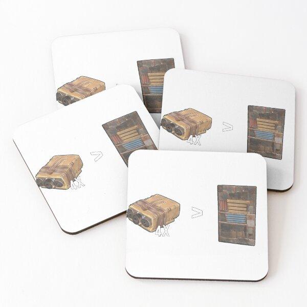 RUST - Base Raid Coasters (Set of 4)