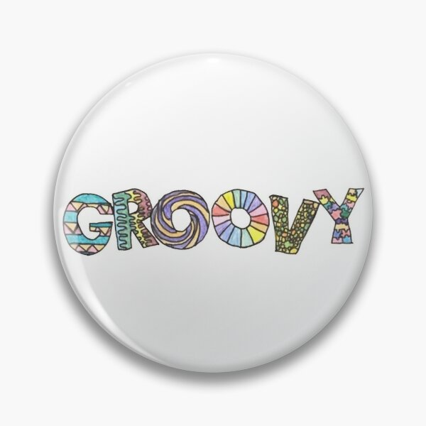retro groovy Pin