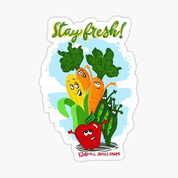 Miss Jamie's Fruits and Veggies Sticker