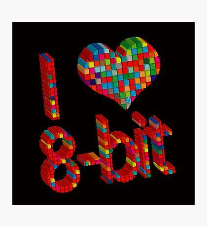 i heart 8 - Bit Photographic Print
