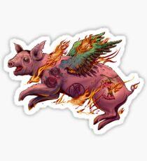 Porky Panic Sticker