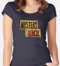 Gravity Falls Mystery Shack Women's Fitted Scoop T-Shirt