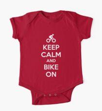 Keep Calm and bike on One Piece - Short Sleeve