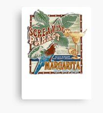 screaming parrot beach bar Canvas Print
