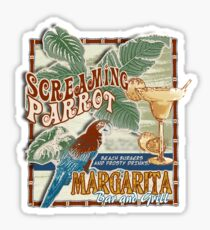 screaming parrot beach bar Sticker