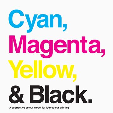 Cyan, Magenta, Yellow & Black by hami