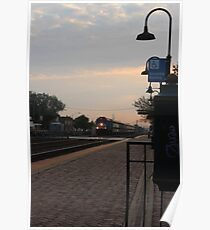 Sunrise from the Berwyn, IL train station Poster