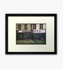 Video City Framed Print