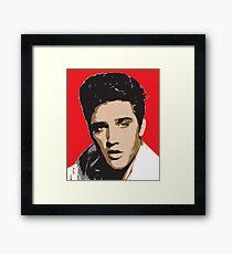 Elvis Presley - Pop Art Portrait Framed Print