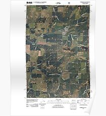 USGS Topo Map Washington State WA Farmington 20110428 TM Poster