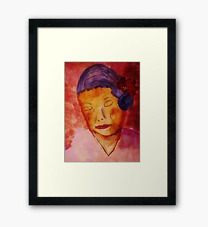 Grace while growing old, watercolor Framed Print