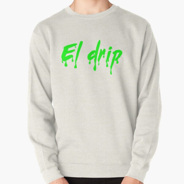 El Drip Green Text Pullover Sweatshirt