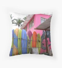 Surfboards. Throw Pillow