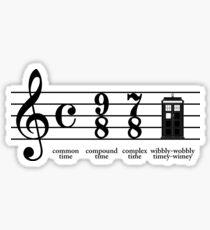 Wibbly-wobbly timey-wimey Sticker