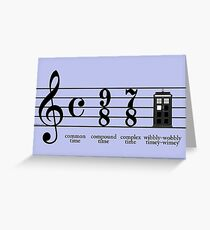 Wibbly-wobbly timey-wimey Greeting Card