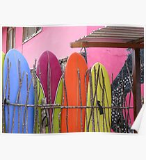Surfboard fence. Poster