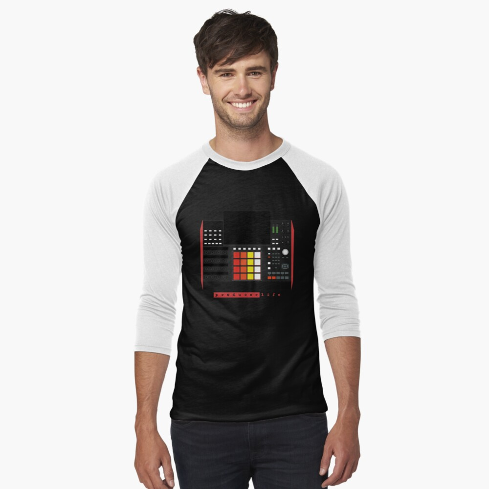MPC X - Producer Life Gear - Dope Beat Machine Series #16 (w/Multicolored Pads) Baseball ¾ Sleeve T-Shirt