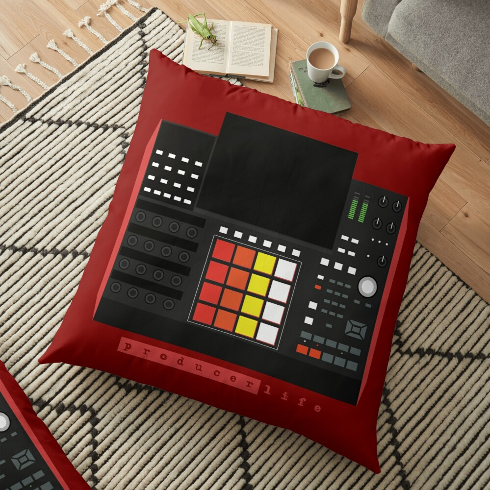 MPC X - Producer Life Gear - Dope Beat Machine Series #16 (w/Multicolored Pads) Floor Pillow