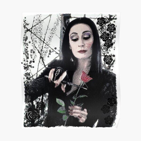 Morticia Addams Horror family  Poster