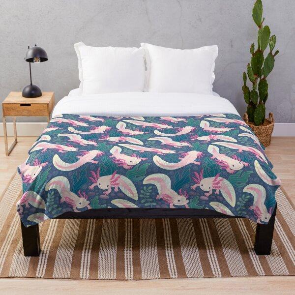 Axolotls Throw Blanket
