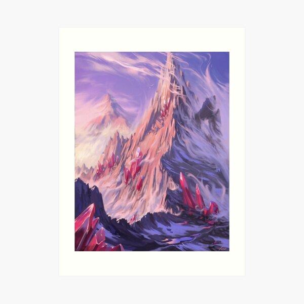 Les montagnes Impression artistique