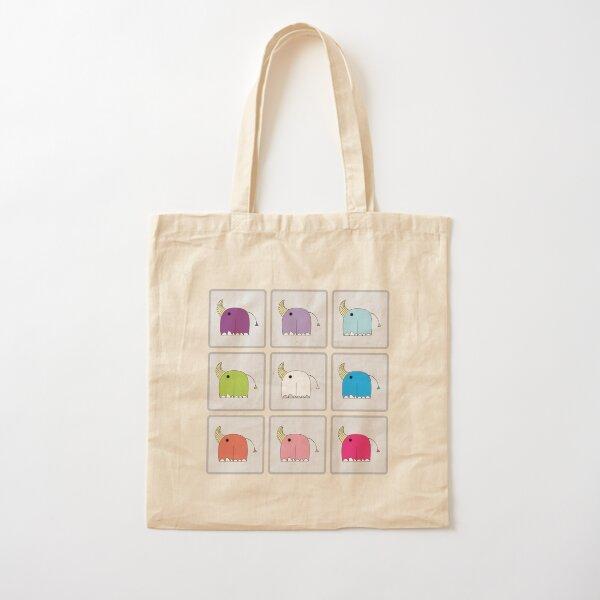 TILED RHINOCORNS Cotton Tote Bag