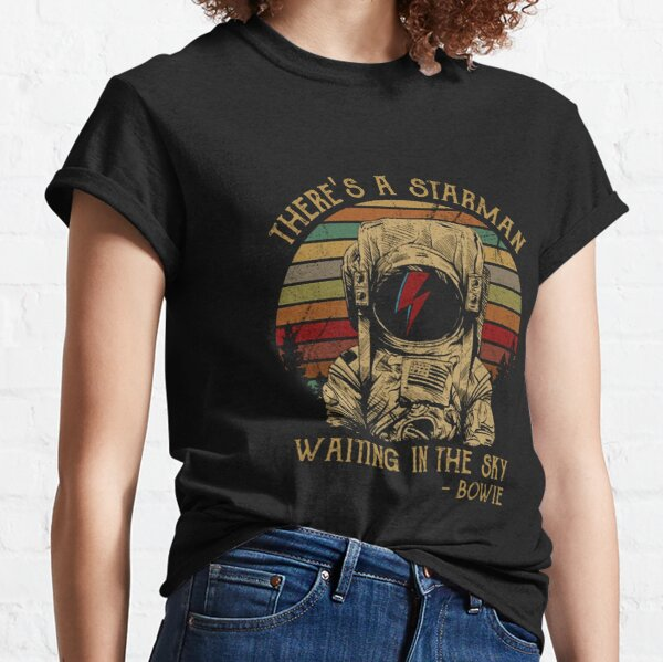 Men Women David Bowie There's A Atarman Classic T-Shirt
