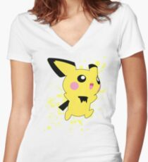Pichu - Super Smash Bros Women's Fitted V-Neck T-Shirt
