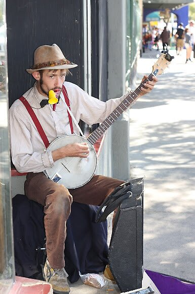Street Musician by Norma  Ledesma