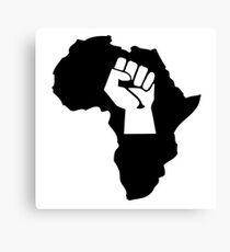 africa afrique fist revolution Canvas Print