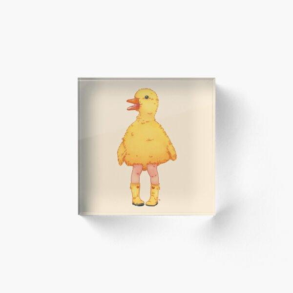 Yellow duckling Acrylic Block