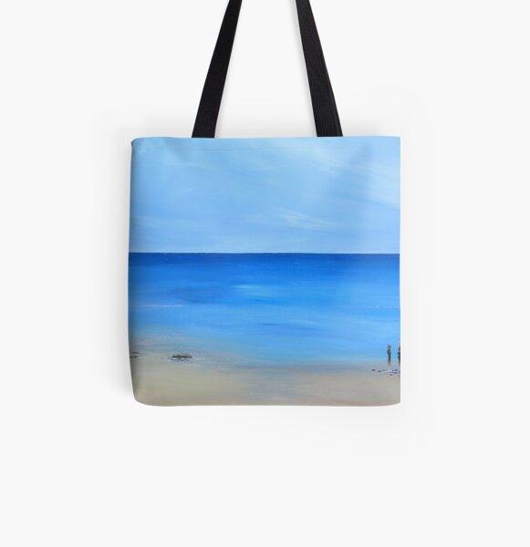 Paysage marin, océan et plage Tote bag doublé