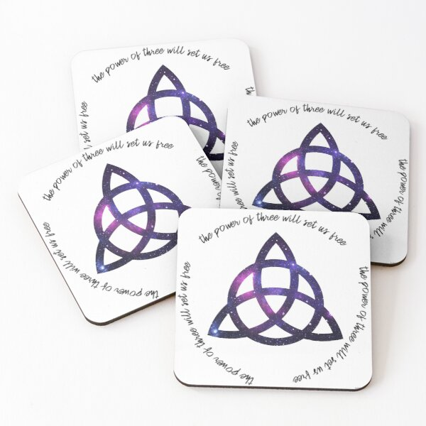 the power of three - charmed Coasters (Set of 4)