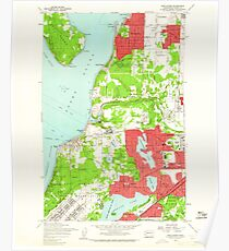 USGS Topo Map Washington State WA Steilacoom 244027 1959 24000 Poster